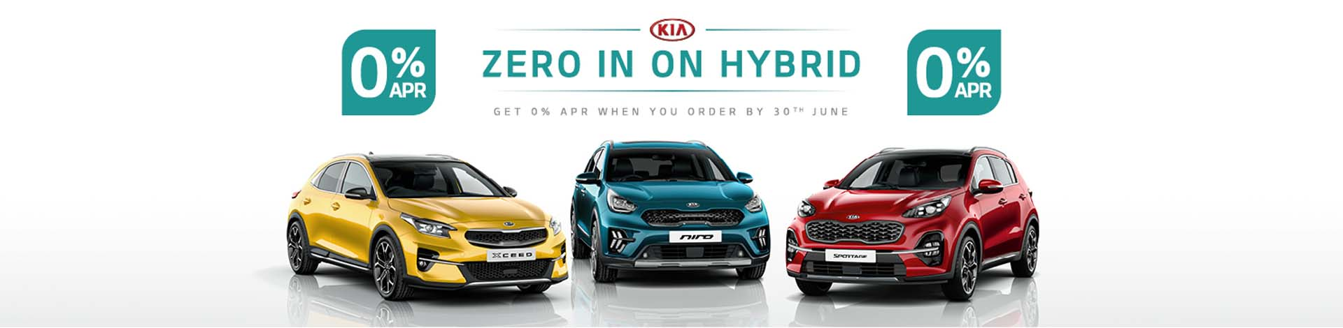 Kia's latest 0% offers available on Kia Sportage, XCeed and Niro