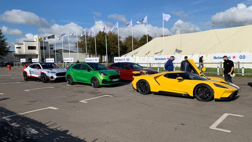 Cars lined up at Goodwood SpeedWeek 2020