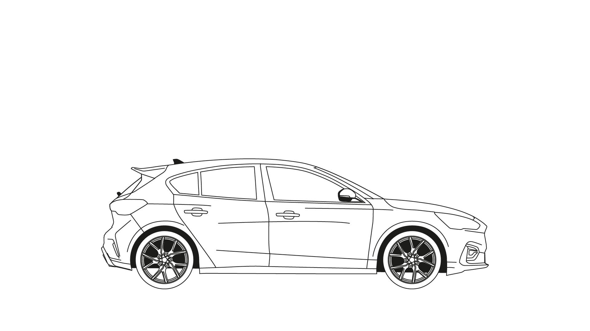Ford Stay Home Focus ST colouring in poster