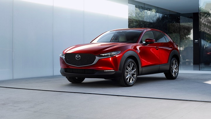 Mazda CX-30 parked in driveway