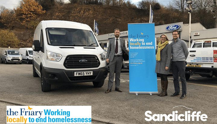 Nick Osborne donating a van to The Friary