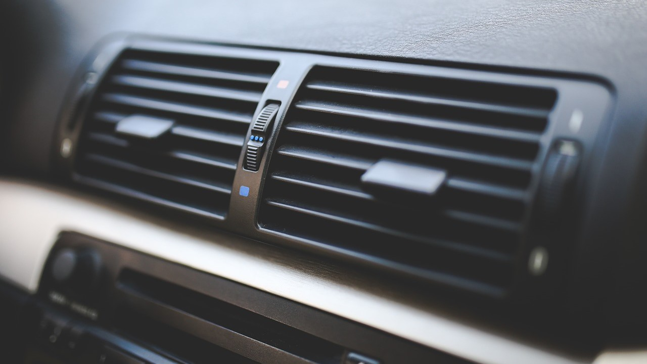 close up of car air ventilation system