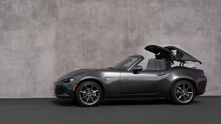 Mazda MX-5 RF convertible with roof down