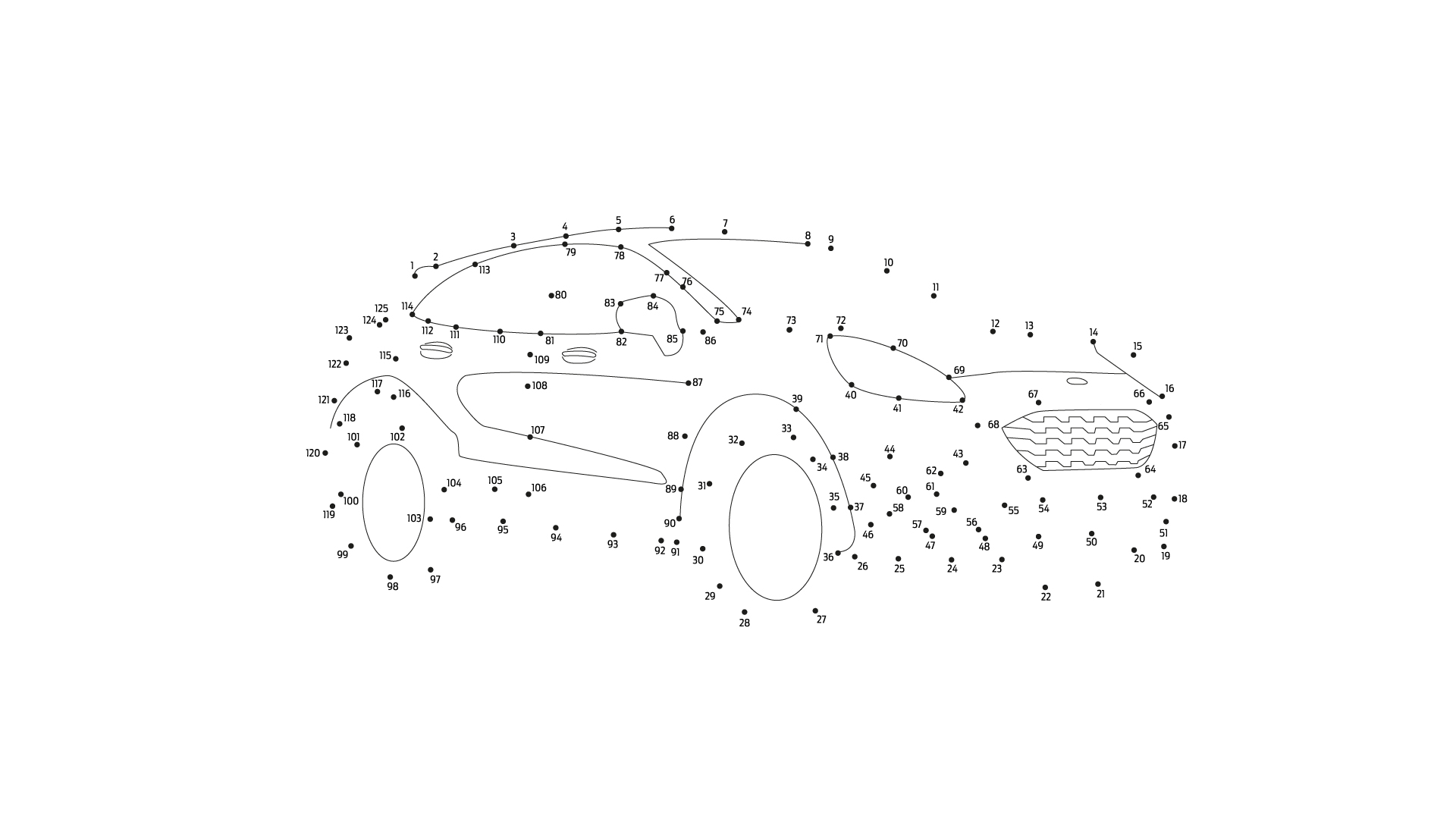 Ford Stay Home Puma dot to dot puzzle