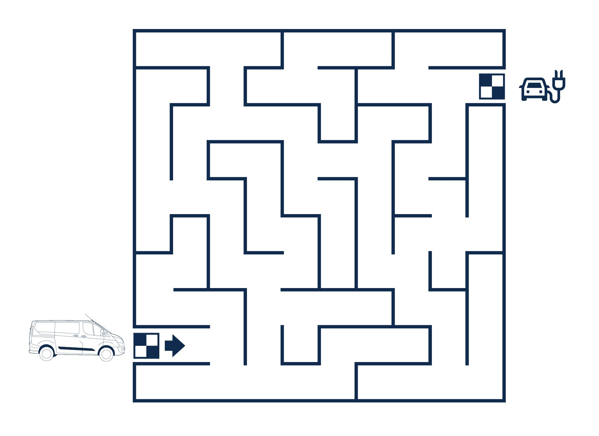 Ford Stay Home maze puzzle medium