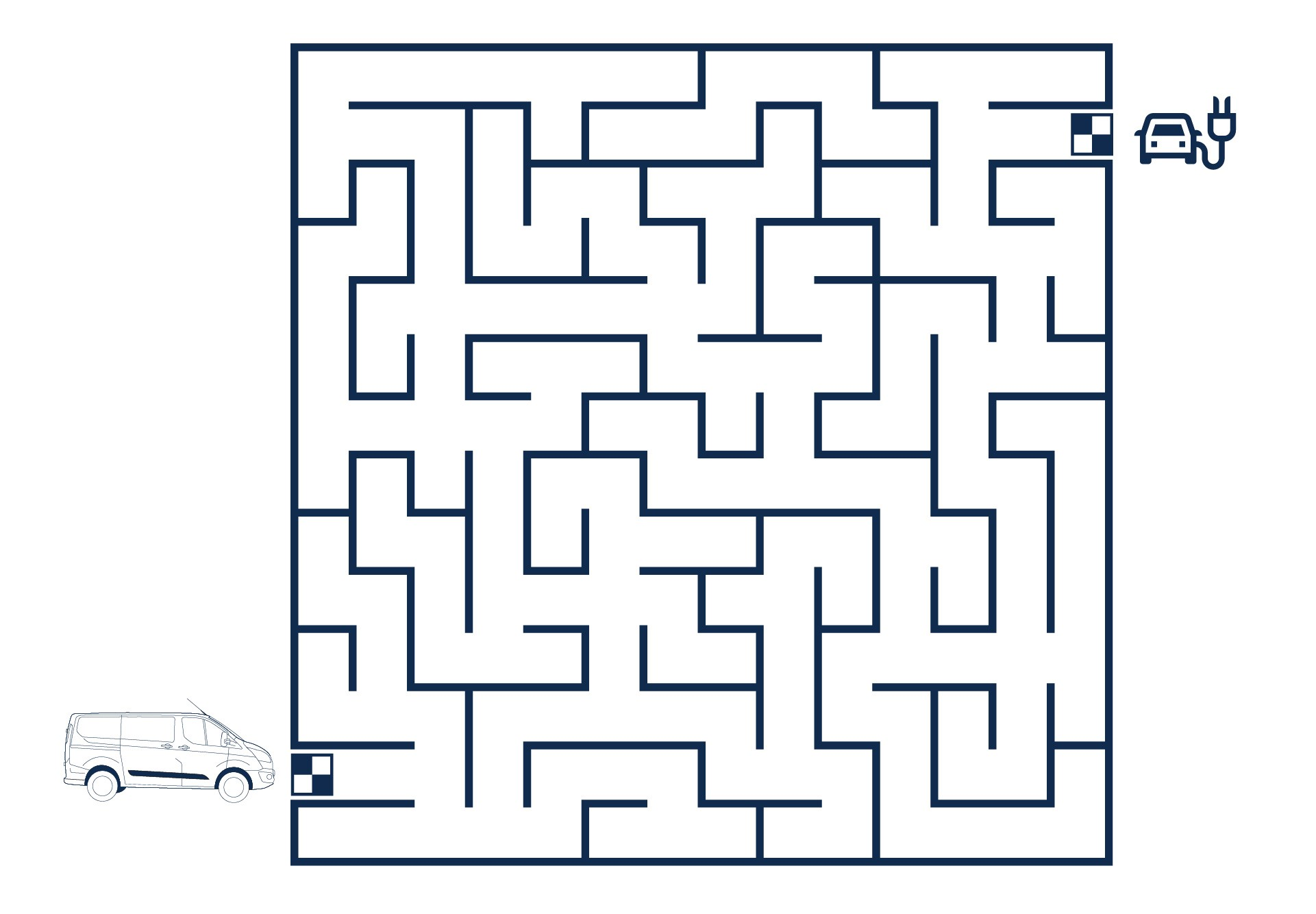 Ford Stay Home maze puzzle hard