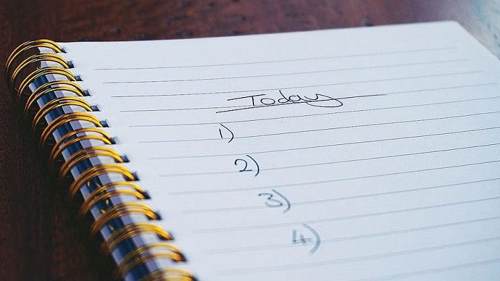 Notepad with a to-do list