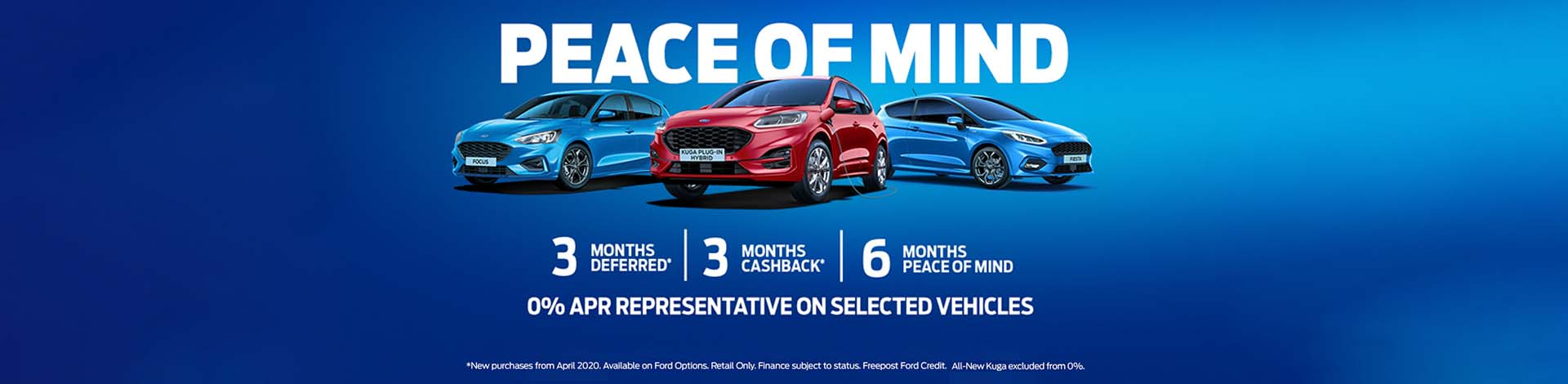 Ford Peace of Mind offer showing 6 Months Programme