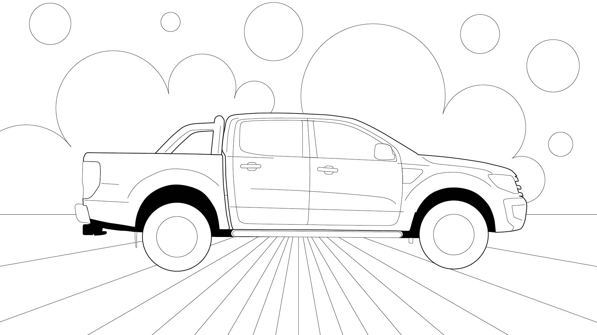 Ford Stay Home Ranger colouring in poster