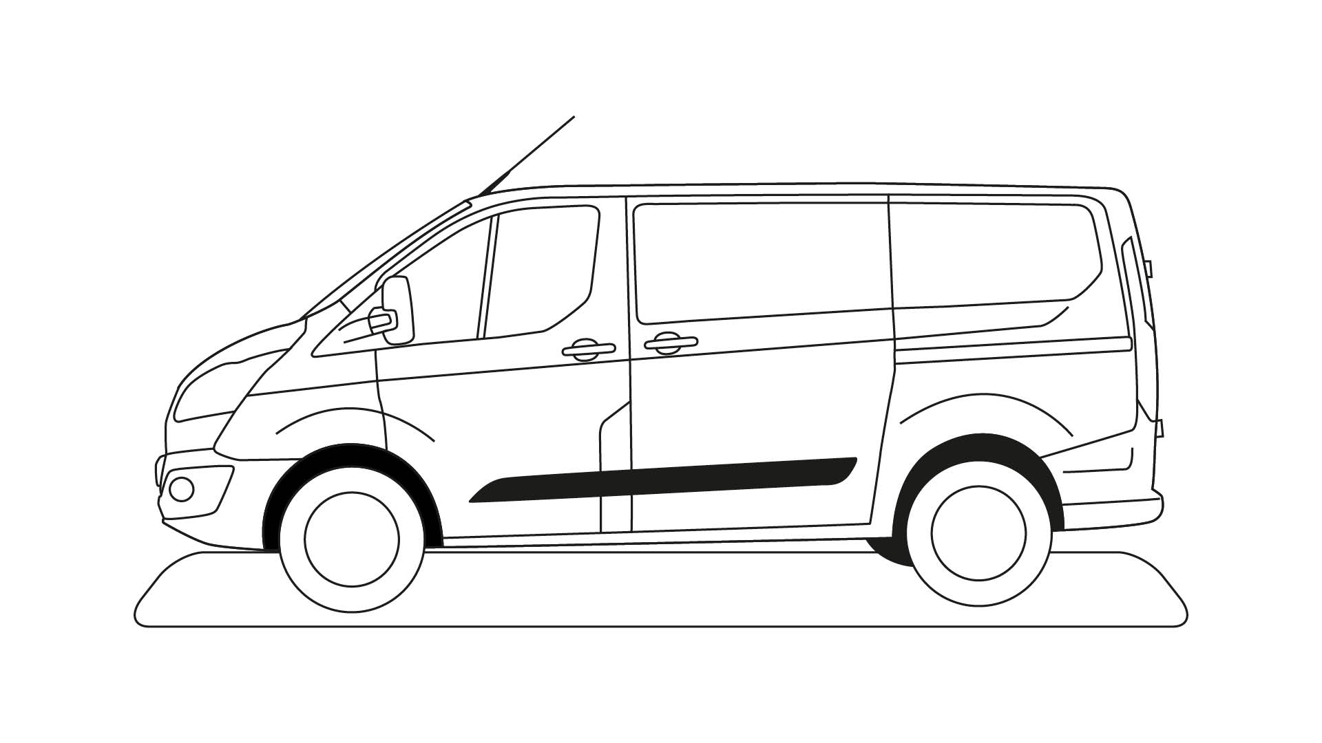 Ford Stay Home Transit colouring in poster 2