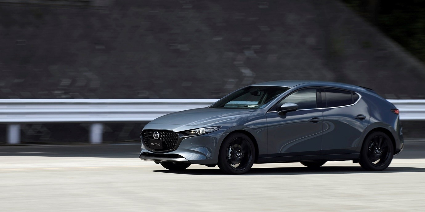 All-New Mazda3 hatchback in Gunmetal Grey