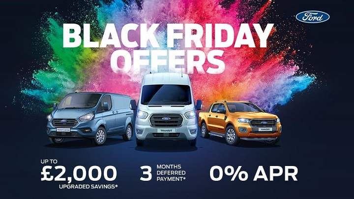 Black Friday offers on Ford Vans