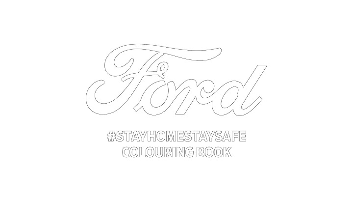 Ford Stay Home colouring book cover