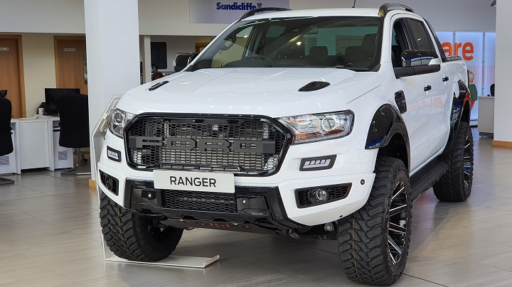 Exclusive custom-made Ford Ranger Projex Fuel Edition front exterior shot