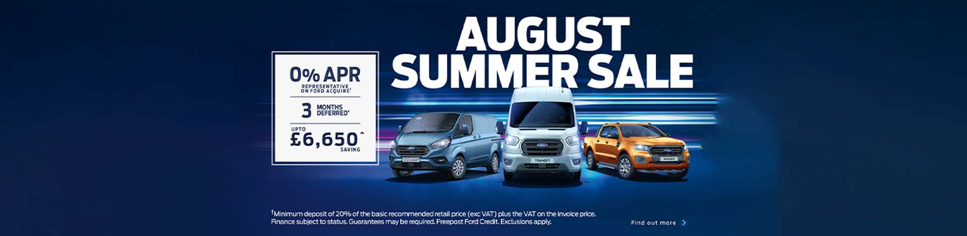 Ford Summer Sale August 2020