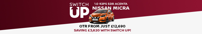 Nissan Micra Switch Up Banner