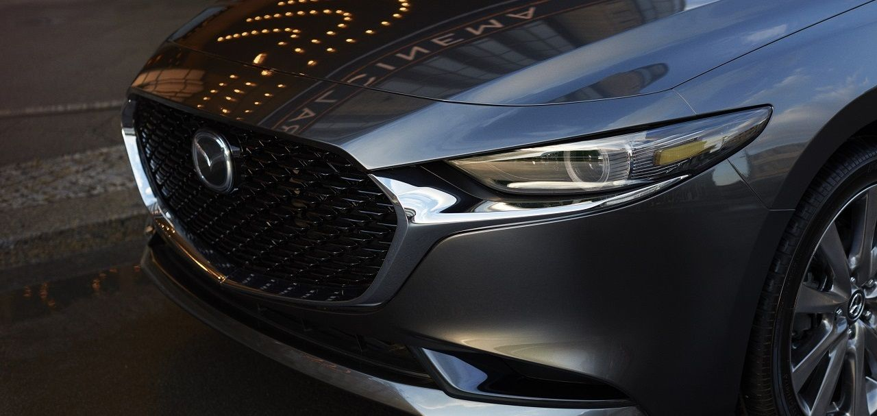 Mazda 3 front grille close up