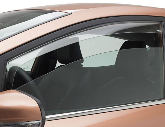 Genuine-Ford-Fiesta-2017>-ClimAir-Side-Wind-Air-Deflectors-Transparent-Front,3-Door 1