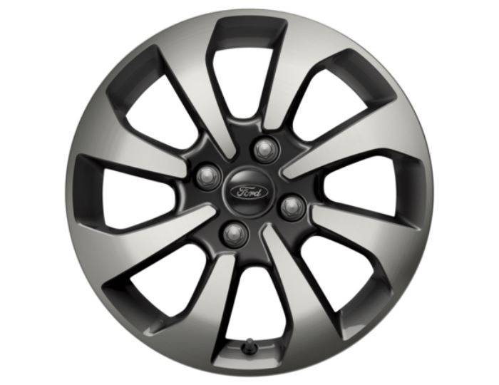 Genuine-Ford-Fiesta-2017>-16--Alloy-Wheel---Rock-Metallic---Machined---2125243 1