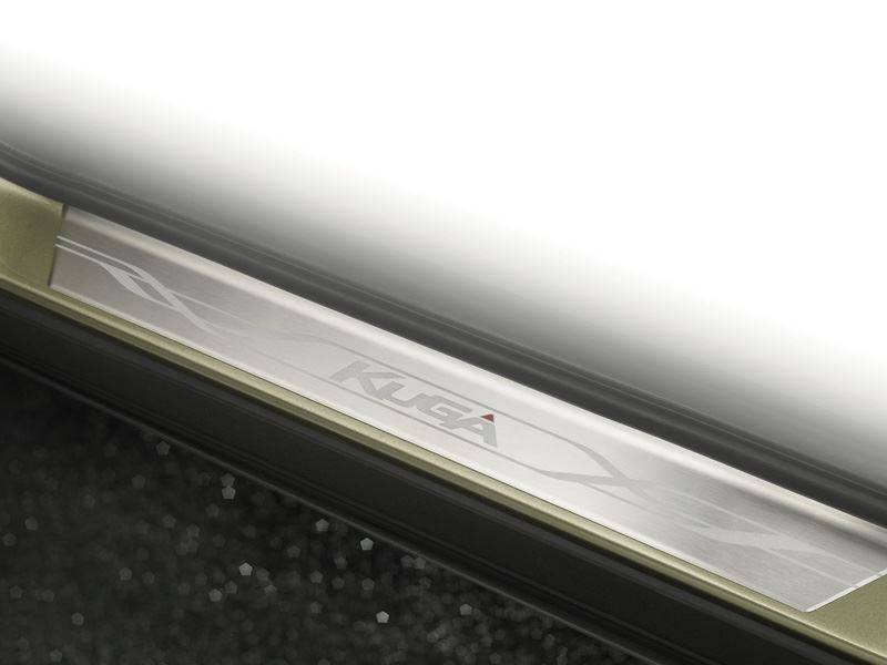 Genuine-Ford-Kuga-Sill-Protectors---In-Stainless-Steel-with-Kuga-Logo-(1779494) 1
