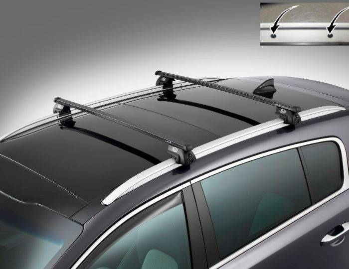 Genuine-Kia-Sportage-2016>-Roof-Rail-Cross-Bars-Steel-Square-(Without-Holes) 1