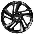 Nissan-Qashqai-(2014->)-17--Black-Alloy-Wheel-In-Snowflake-Design-KE4094E200BZ 1
