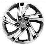 Nissan-Qashqai-(2014->)-17--Dark-Grey-Alloy-wheel-In-Snowflake-Design 1