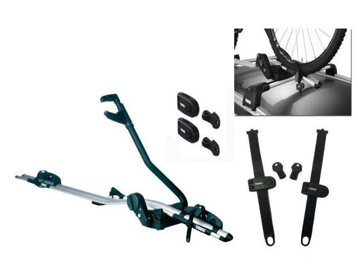 Thule-591-Cycle-Carrier---Bike-Carrier-Roof-Mounted-ProRide---Upright-2015-20kg-INCLUDE-WHEEL-LOCK 1