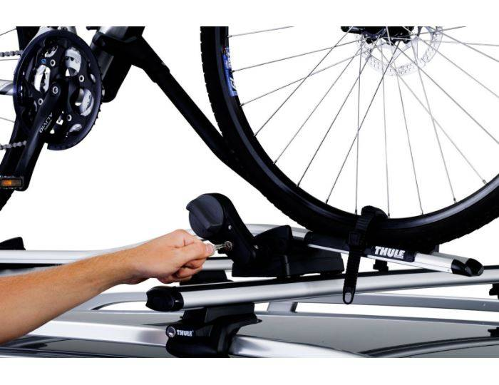 Thule-591-Cycle-Carrier---Bike-Carrier-Roof-Mounted-ProRide---Upright-2015-20kg-INCLUDE-WHEEL-LOCK 6