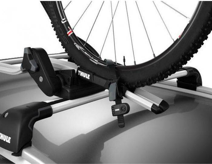 X4-Thule-591-Cycle-Carrier---Roof-Mounted-ProRide---INCLUDE-WHEEL-LOCK-Thule-986 5
