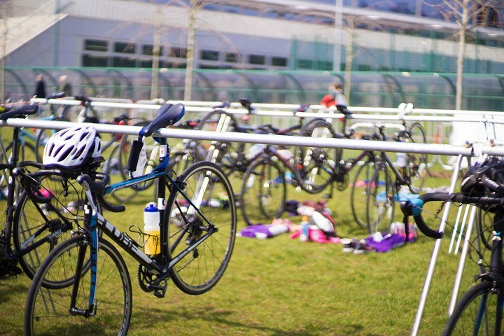 Bikes at Notts Triathlon 2019