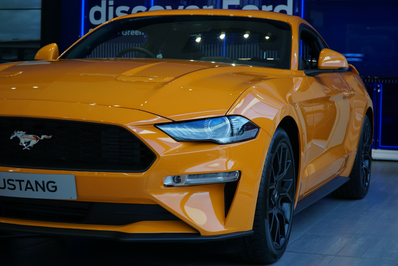 Front of the 2020 Ford Mustang