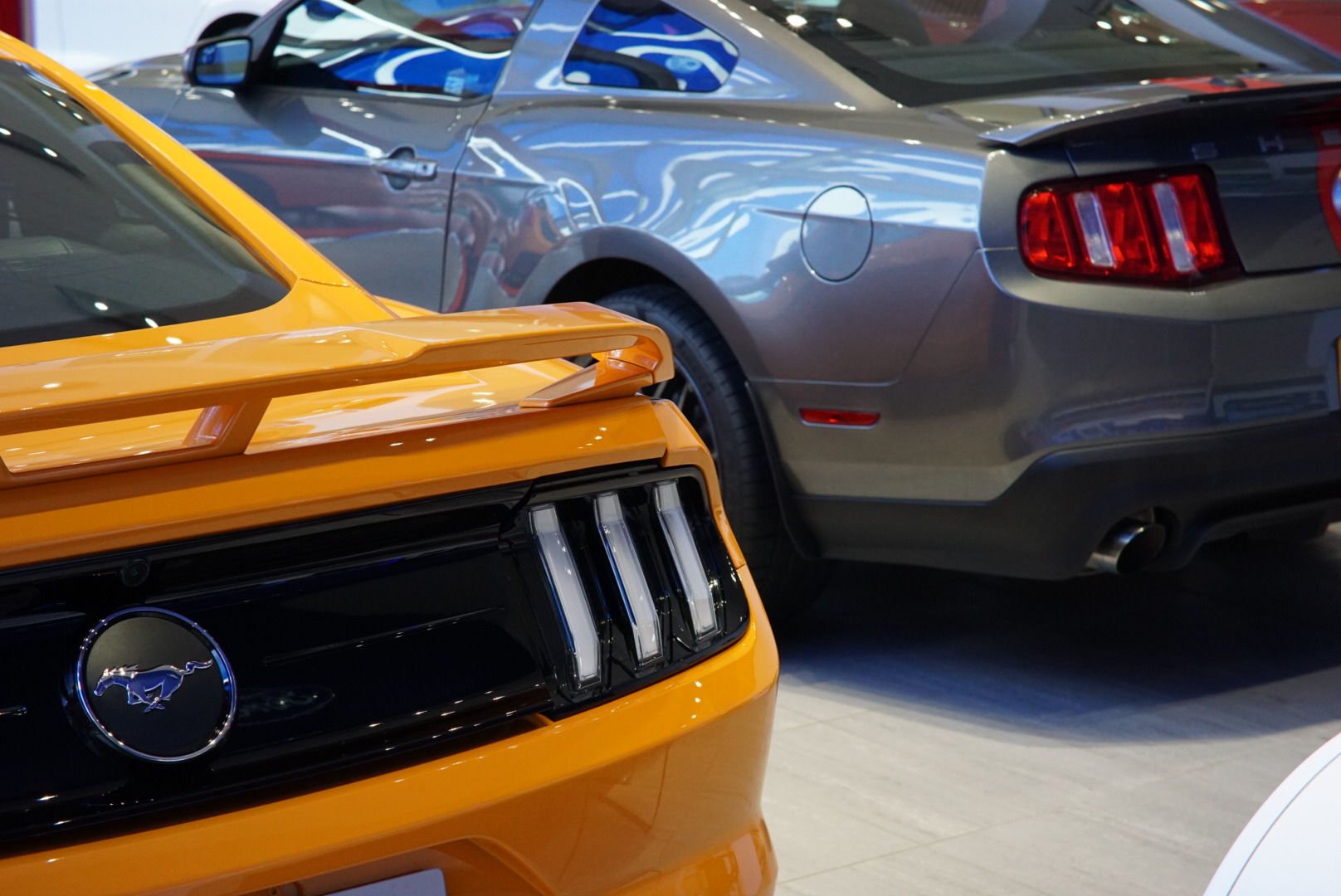 Rear of the 2020 Ford Mustang