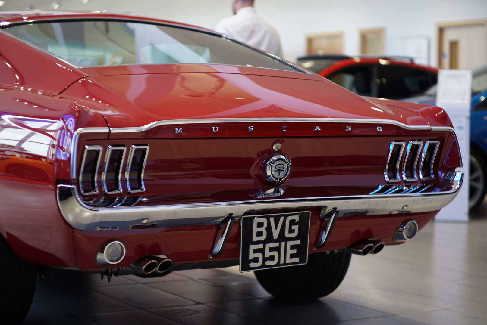 rear of Ford 1967 Mustang