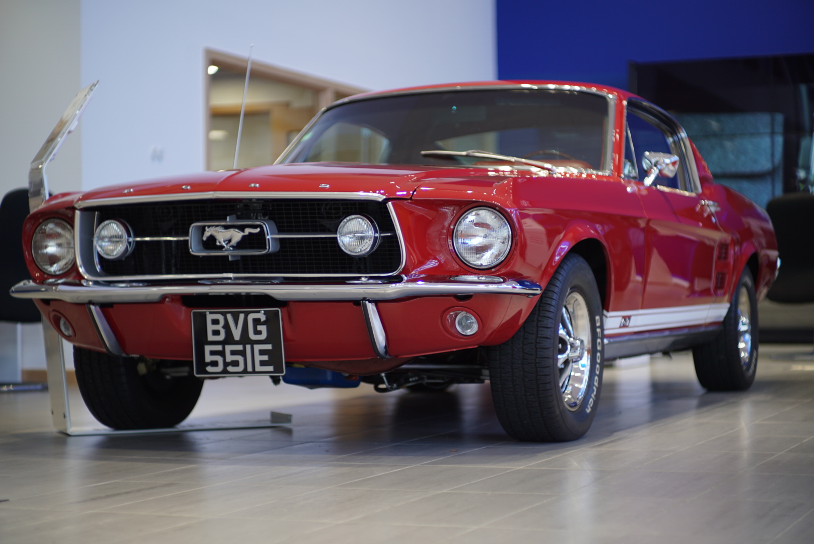 front of Ford 1967 Mustang