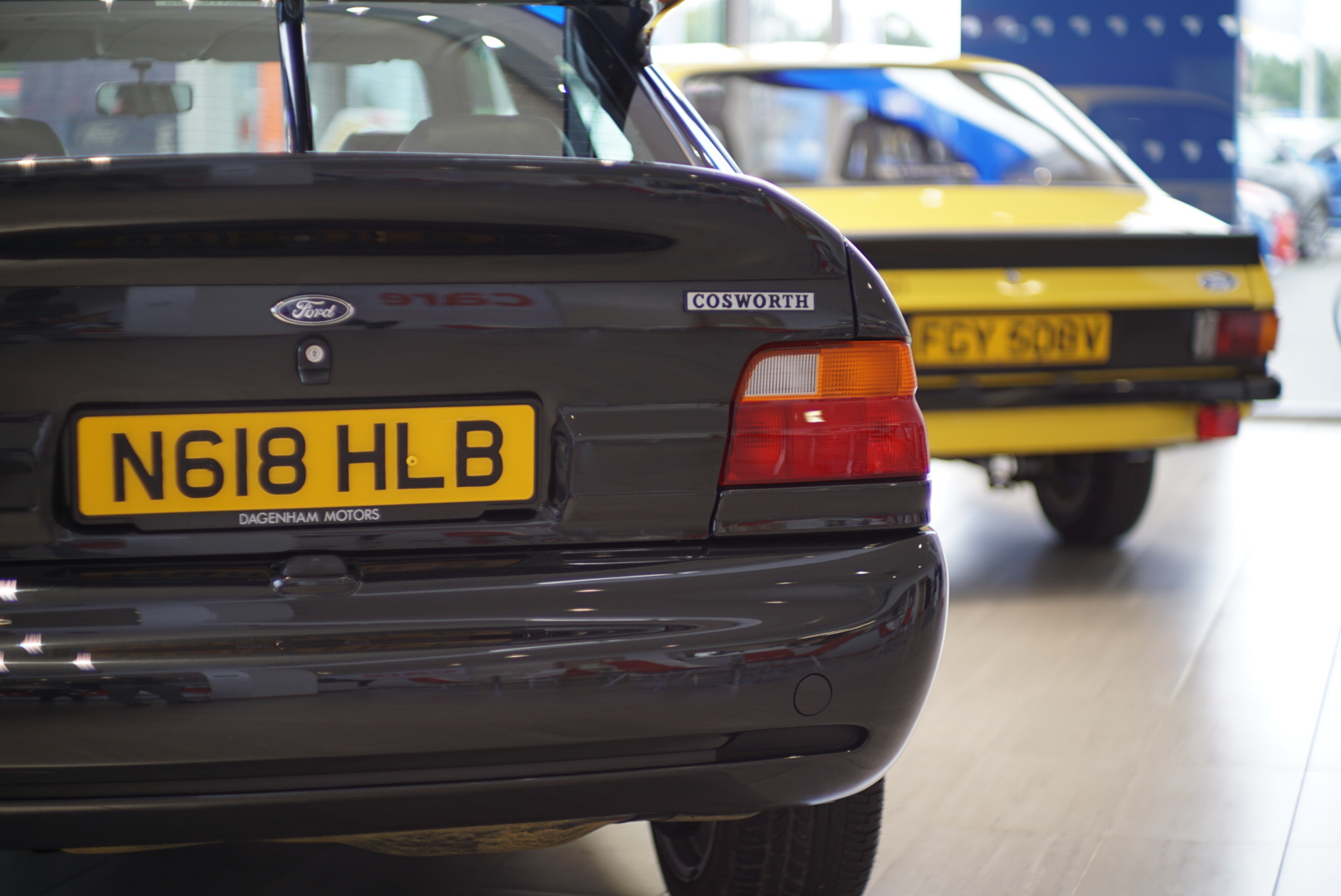 Rear of the Ford Escort RS Cosworth